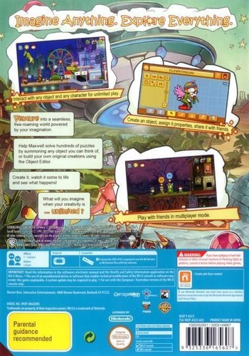 Scribblenauts Unlimited WiiU backM (ASCP01)