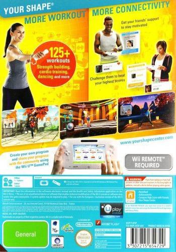 Your Shape: Fitness Evolved 2013 WiiU backM (AYSP41)