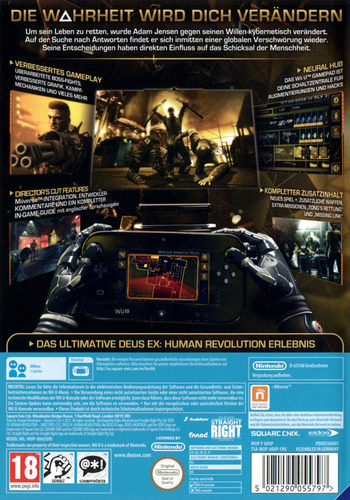 Deus Ex: Human Revolution – Director's Cut WiiU backM (ADXPGD)
