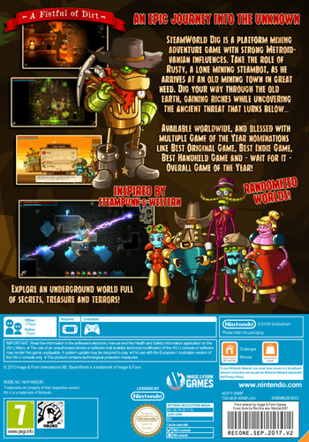 SteamWorld Dig WiiU backM (ADGP)