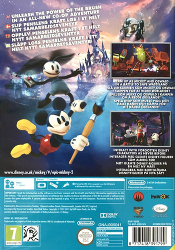 Disney Epic Mickey 2: The Power of Two WiiU backM (AEMX4Q)