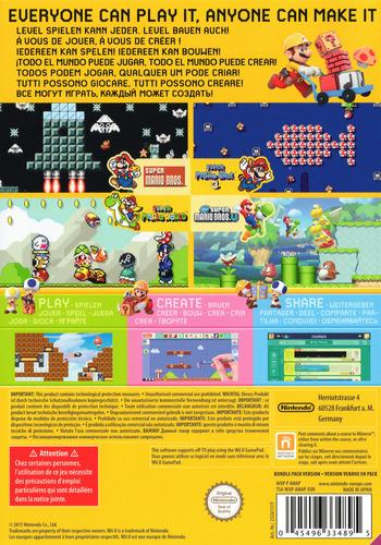 Super Mario Maker WiiU backM (AMAP01)