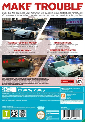 Need for Speed: Most Wanted U WiiU backM (ANSP69)