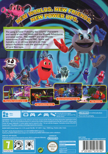 Pac-Man and the Ghostly Adventures 2 WiiU backM (BPMPAF)