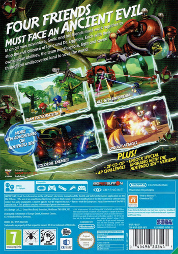 Sonic Boom: Rise of Lyric WiiU backM (BSSP8P)