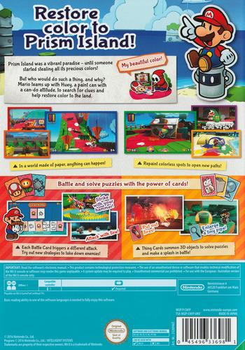 Paper Mario: Color Splash WiiU backM (CNFP01)