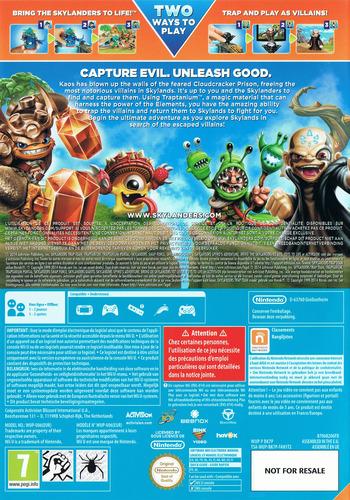 Skylanders: Trap Team WiiU backM (BK7P52)