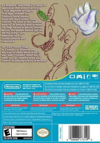 Art Academy: SketchPad WiiU backM (AA9E)