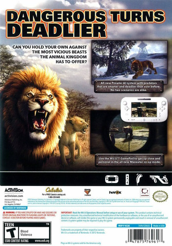 Cabela's Dangerous Hunts 2013 WiiU backM (ACAE52)