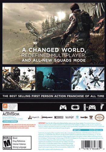 Call of Duty: Ghosts WiiU backM (ACPE52)