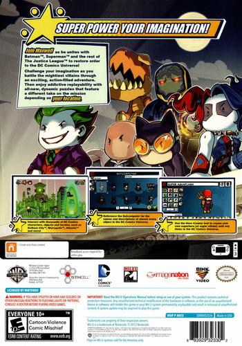 Scribblenauts Unmasked:a DC Comics Adventure WiiU backM (ADCEWR)