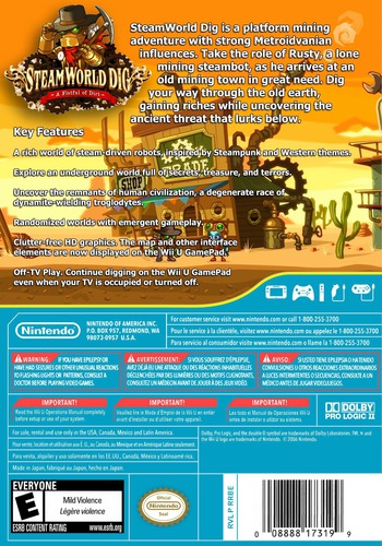 SteamWorld Dig WiiU backM (ADGE)