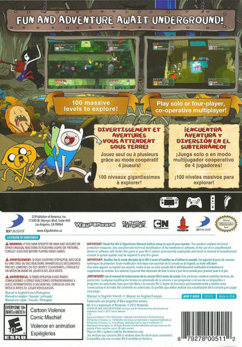 Adventure Time: Explore the Dungeon Because I DON'T KNOW! WiiU backM (ADVEG9)