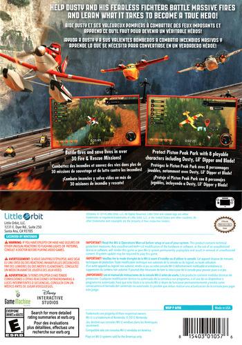Disney Planes: Fire & Rescue WiiU backM (AFREVZ)