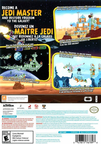 Angry Birds Star Wars WiiU backM (AGRE52)