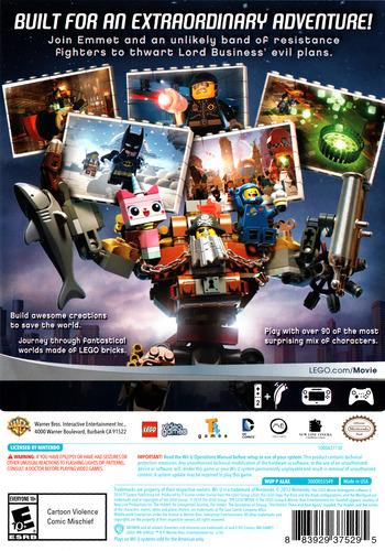 The LEGO Movie Videogame WiiU backM (ALAEWR)