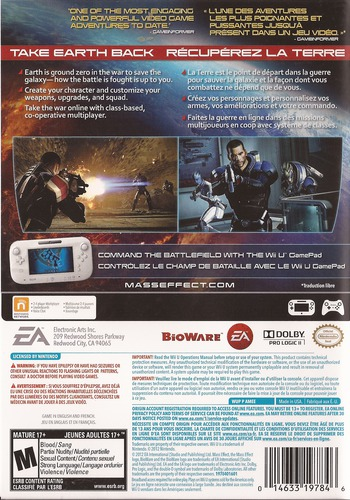 Mass Effect 3: Special Edition WiiU backM (AMEE69)