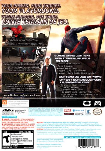 The Amazing Spider-Man Ultimate Edition WiiU backM (AMZE52)