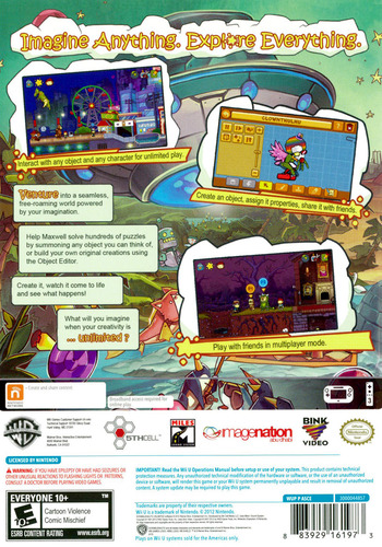 Scribblenauts Unlimited WiiU backM (ASCEWR)