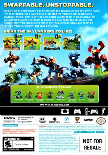 Skylanders: Swap Force WiiU backM (ASFE52)