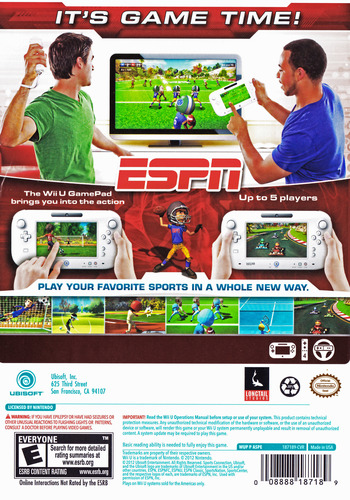 ESPN Sports Connection WiiU backM (ASPE41)