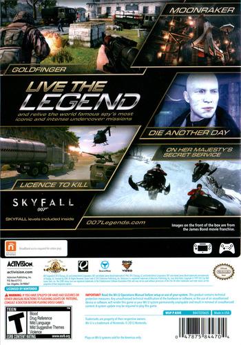 007 Legends WiiU backM (ASVE52)