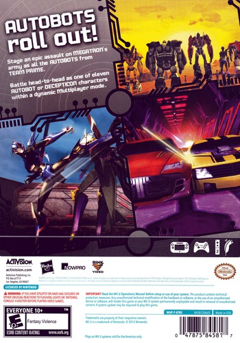 Transformers: Prime WiiU backM (ATRE52)