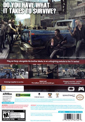 The Walking Dead: Survival Instinct WiiU backM (AWDE52)