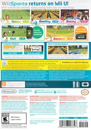 Wii Sports Club WiiU backM (AWSE01)