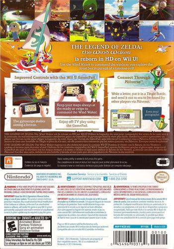 The Legend of Zelda: The Wind Waker HD WiiU backM (BCZE01)