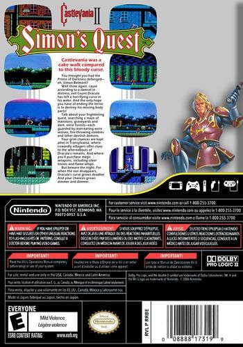 Castlevania II: Simon's Quest WiiU backM (FB8E)