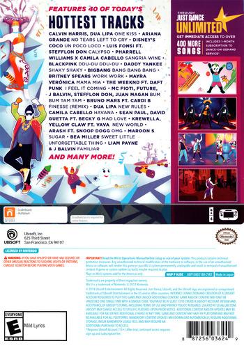 Just Dance 2019 WiiU backM (HJDE41)