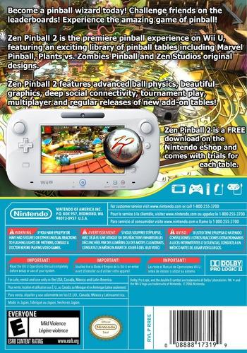 Zen Pinball 2 WiiU backM (WBAE)