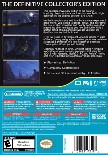 Another World: 20th Anniversary Edition WiiU backM (WEUE)