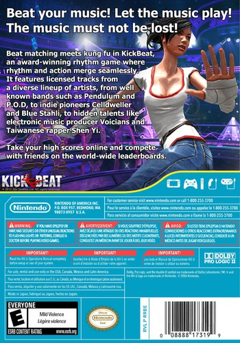 KickBeat Special Edition WiiU backM (WKBE)