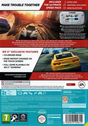 Need for Speed: Most Wanted U WiiU backM2 (ANSP69)