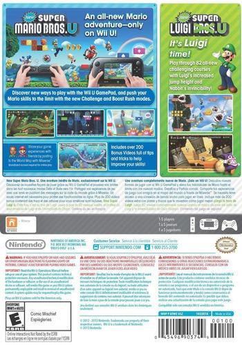 New Super Mario Bros. U + New Super Luigi U WiiU backMB (ATWE01)