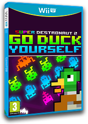 Super Destronaut 2: Go Duck Yourself eShop cover (AJNP)