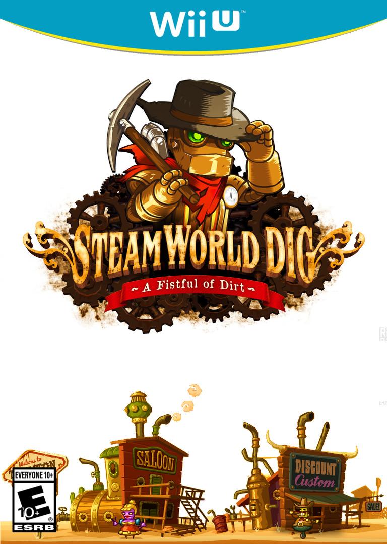 Resultado de imagen para SteamWorld Dig wii u COVER