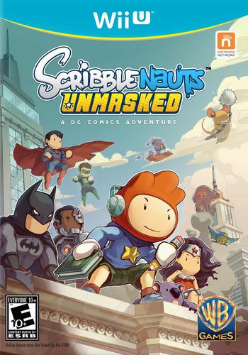 Scribblenauts Unmasked:a DC Comics Adventure WiiU coverM (ADCEWR)