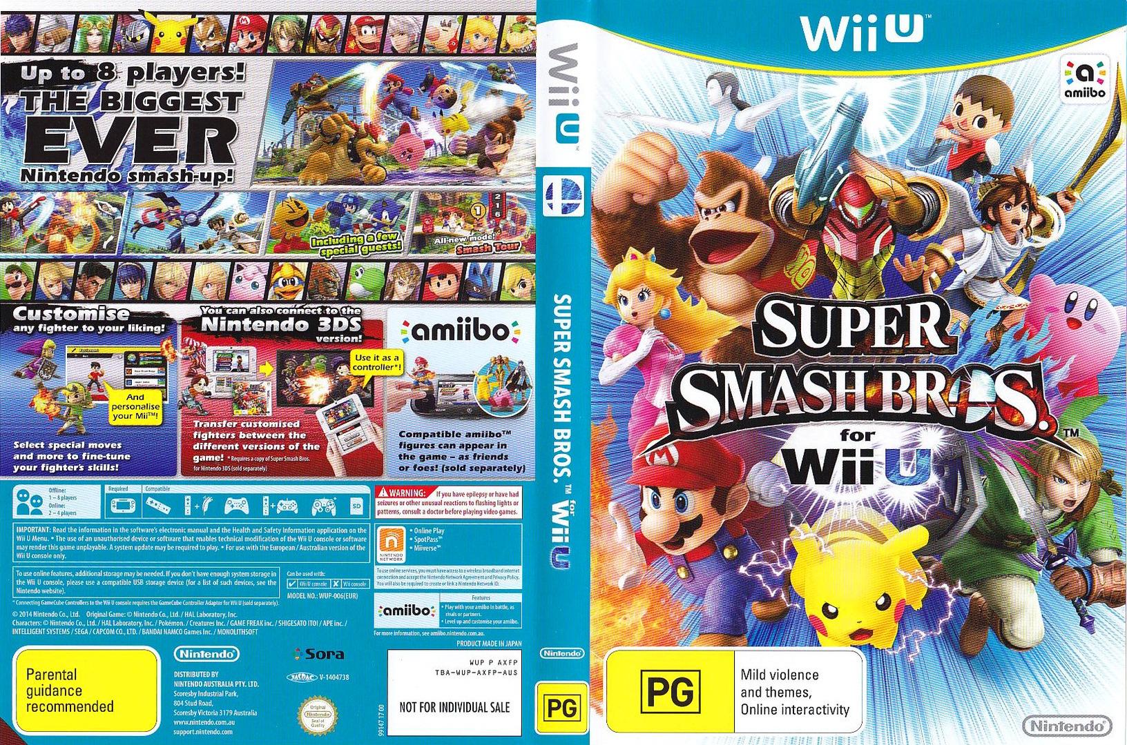Super Smash Bros. for Wii U WiiU coverfullHQ (AXFP01)