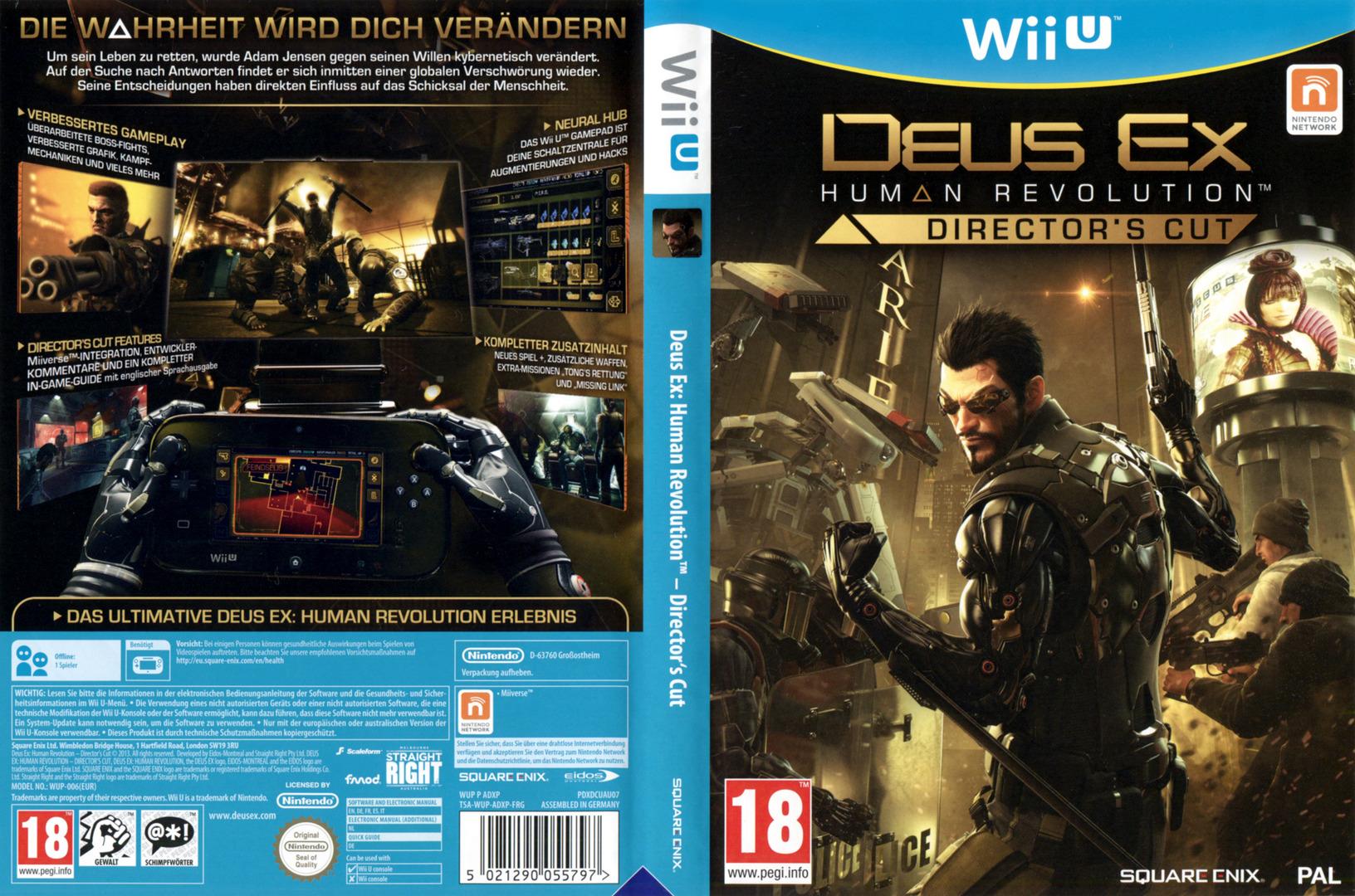 Deus Ex: Human Revolution – Director's Cut WiiU coverfullHQ (ADXPGD)