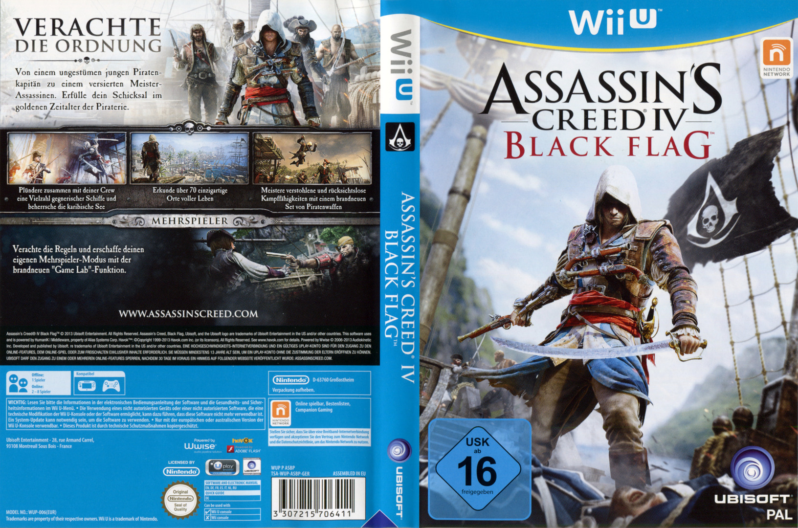 Assassin's Creed IV: Black Flag WiiU coverfullHQ (ASBP41)