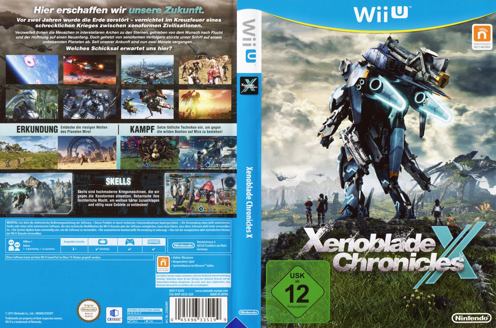 Xenoblade Chronicles X WiiU coverfullHQ (AX5D01)