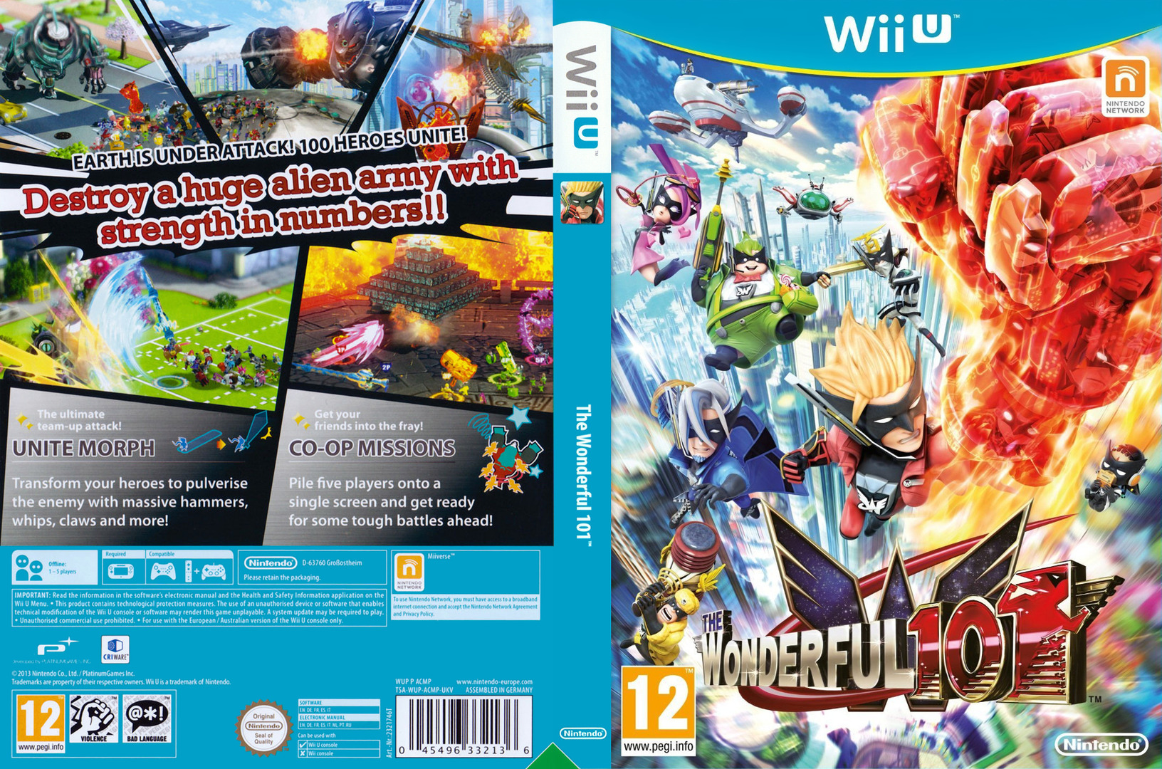The Wonderful 101 WiiU coverfullHQ (ACMP01)