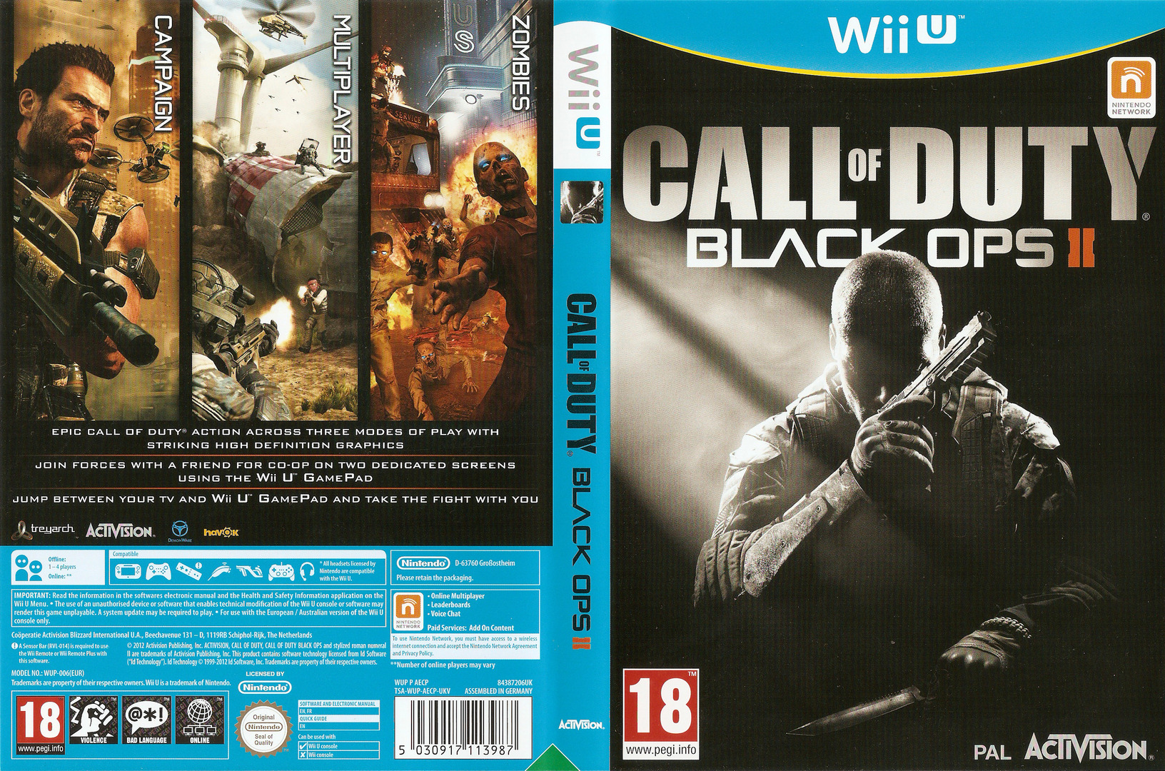 Call of Duty: Black Ops II WiiU coverfullHQ (AECP52)