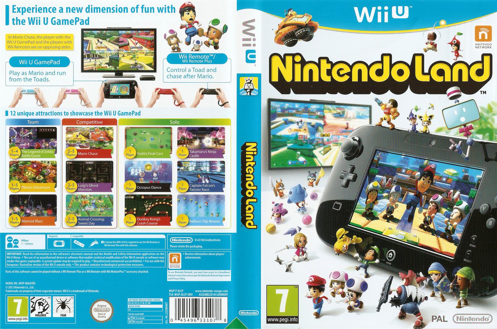 Nintendo Land WiiU coverfullHQ (ALCP01)