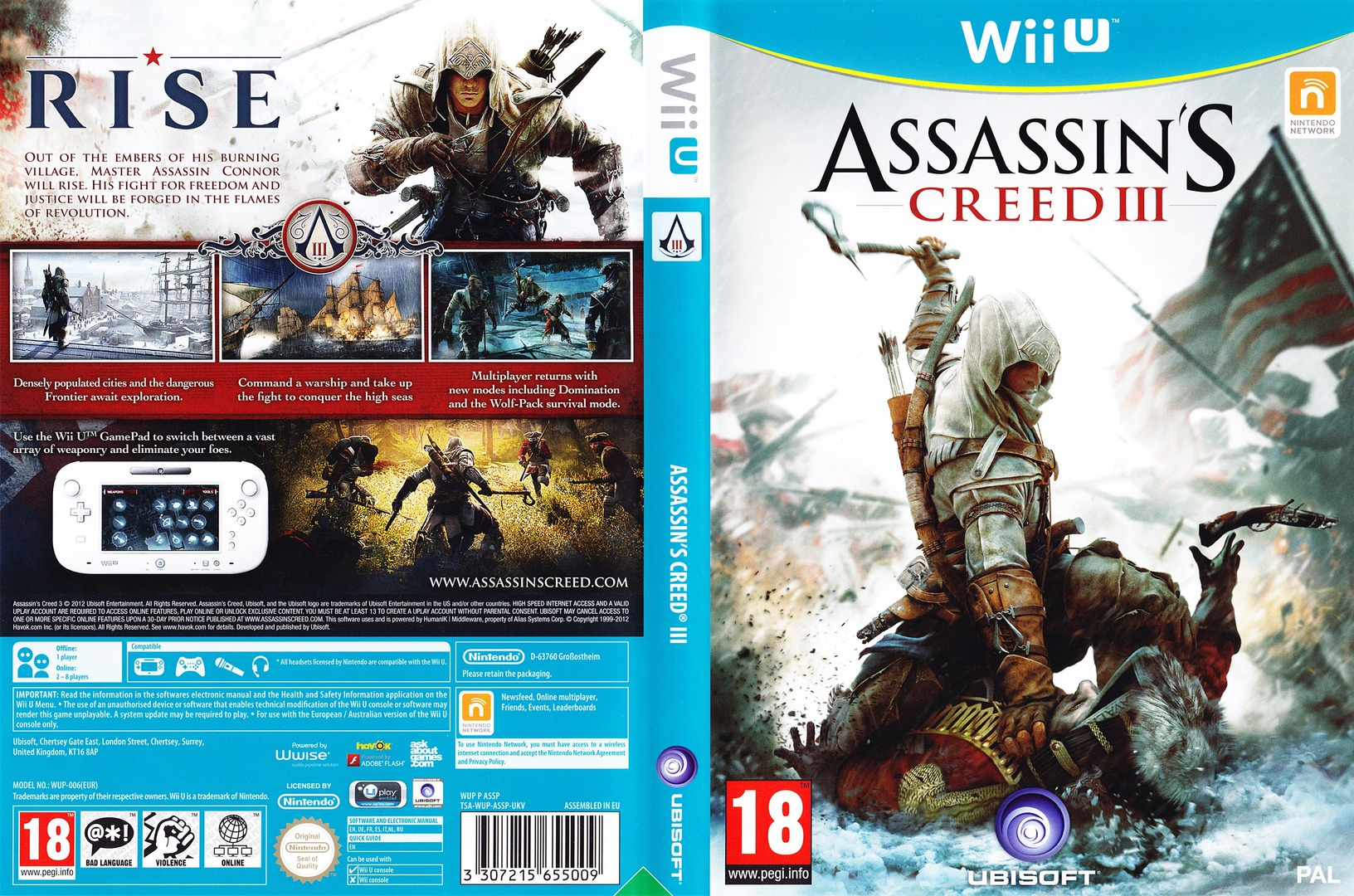 Assassin's Creed III WiiU coverfullHQ (ASSP41)