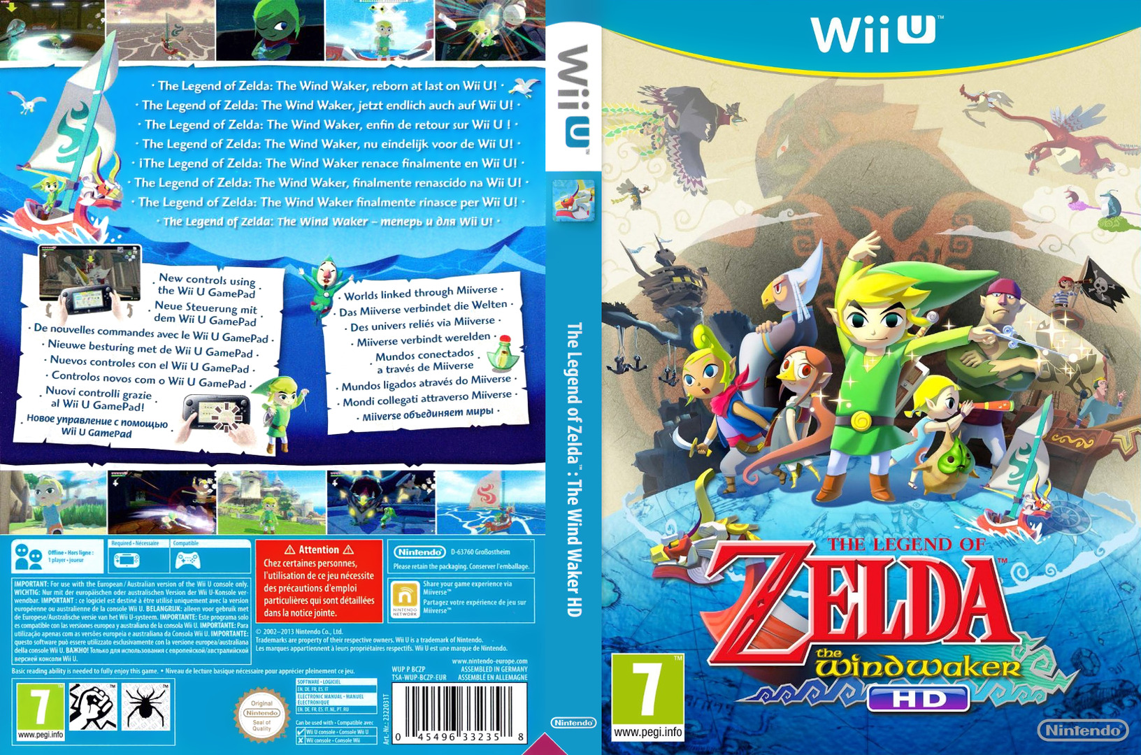 The Legend of Zelda: The Wind Waker HD WiiU coverfullHQ (BCZP01)