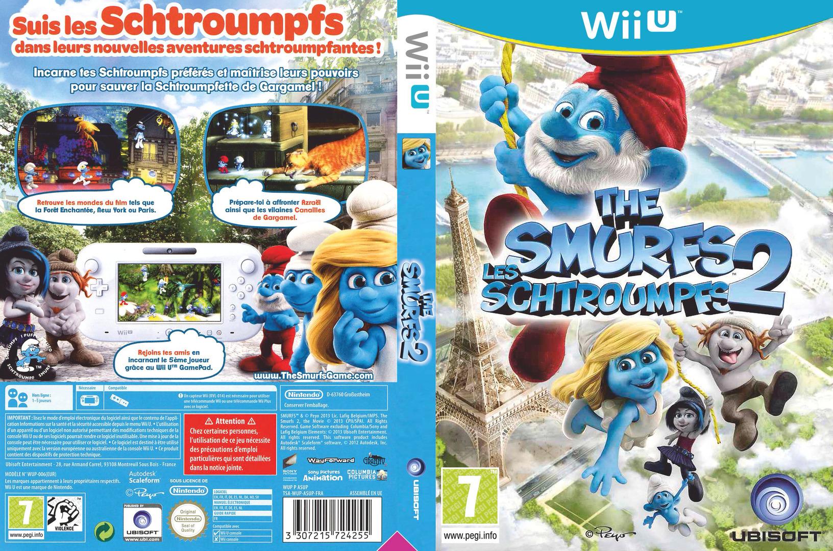 Les schtroumpfs 2 WiiU coverfullHQ (ASUP41)